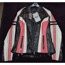 Chamarra De Piel Para Dama Harley Davidson Tipo Vintage
