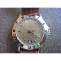 Reloj Le Chateru Para Dama ,caratula Dorada,hermoso, En Cha