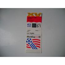 Campeonato Mundial De Futbol Usa 1994 Boleto De Futbol A