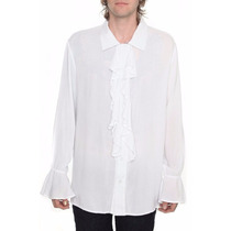 Camisa Blanca Costplay Con Holanes Tipo Pirata Del Caribe
