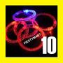 10 Pulsera Led Luminosa Fiesta Boda Xv Dj Con Luz Brazalete