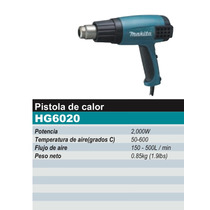 Pistola De Calor Makita De 2000w Modelo Hg6020 Temp Variable