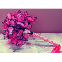 Ramo Para Boda O 15 Años. Bouquet Para Novia Con Mariposas.