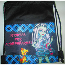 10 Morralitos Dulceros Personalizados Monster High + Regalo