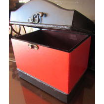 Caja Cofre Madera Reproduccion Antiguo