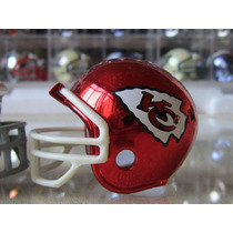 Casco Cromado Y Banderin Nfl Kansas City Chiefs