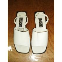 Sandalías Para Dama Marca Lady Emyco Número 23.5 Color Blanc
