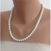 Collar Perlas Aa Autenticas Naturales Clasico Plata .925