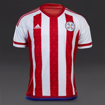 Jersey Selección Paraguay Local Temporada 2015-2016 Adidas