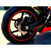 Cinta Para Rines Motocicleta & Autos !! Rojo Reflejante