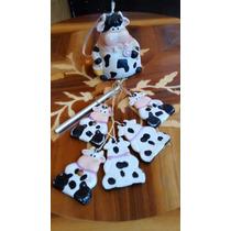 Carrillón De Viento, Vaca Figura De Porcelana