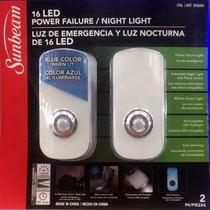 Luz De Emergencia Y Luz Nocturna De 16 Led