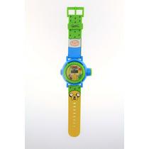 Reloj Digital De Adventure Time Con Proyector De 10 Imagenes