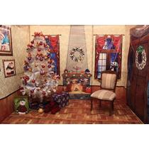 Escenario Navideño Para Tomar Fotografías Con Santa Claus