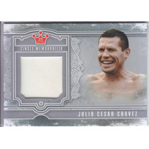 2013 Sportkings Silver Fight Worn Robe Julio Cesar Chavez B
