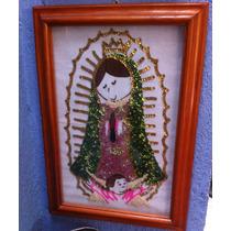 Imagen De Virgen De Guadalupe Bordada En Lentejuela