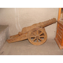 Cañon De Fierro Colado Replica Decorativo, 60cm De Largo, He