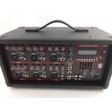 Mezcladora Amplificada 6ch 2400w Usb Eq Bt Usb Sd Mix-2306du