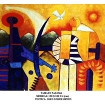 Tamayo Paloma, Cuadro Al Acrilico Sobre Lienzo, Ferbel Art