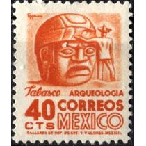 3074 Arqui 3° E Placa #1 Tinta Fluorescent 40c Mint L H 1954