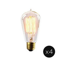 Juego De 4 Vintage Bushwick St18 Filamentos Bulbos, 40w (e26