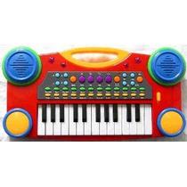Música Electrónica Teclado De Piano Para Niños (rojo)