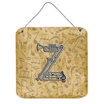 Letra Z Del Instrumento Musical De La Pared Del Alfabeto O P