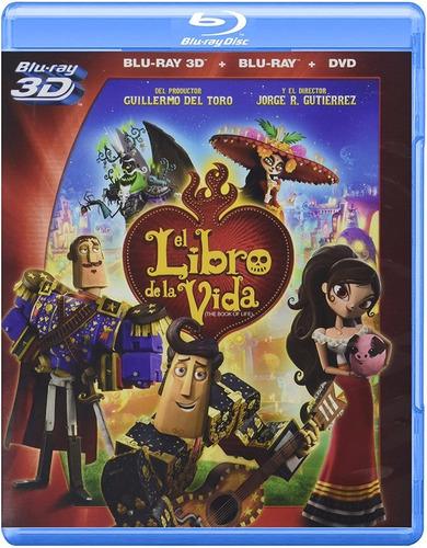 El Libro De La Vida Blu Ray 3d+blu Ray+dvd Película Nuevo