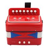 Acordeon Instrumento Musical Infantil Tipo Profesional Rojo