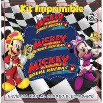 Busca Kit Imprimible Mickey Sobre Ruedas Invitacion Mickey