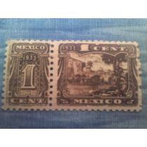 Antiguo Timbre Postal, Estampilla, Sello, México 1933