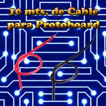Cable Protoboard (10 Mts) Alambre Estañado Calibre 22 Awg