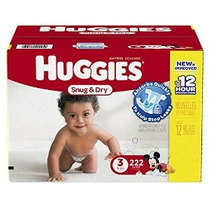 Huggies Snug Y Secos Pañales Tamaño 3 Economy Plus Pack De 2