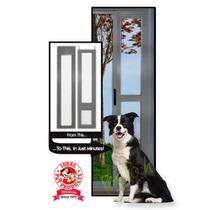 Puerta Modular Aluminio Color Plata Mediana Perro Gato
