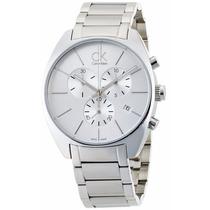 Reloj Calvin Klein Exchange Cronógrafo Plateado K2f27126