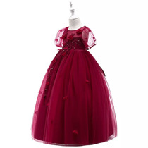 7f0f5fe81 Vestido De Fiesta Para Niña Vestido Niña Color Vino Guinda en venta ...