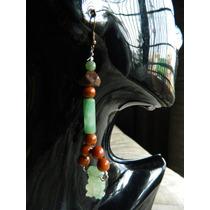 Raros Aretes Figurillas De Jade Prehispánicas Hechos A Mano