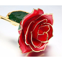 Rosa Natural Baño Oro 24k + Certificado + Envió Gratis!!!