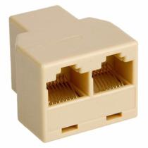 Adaptador Cable Cat5 6 Ethernet 3 Hembra Splitter Rj-45 #84