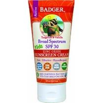 Badger Balm Spf 30 De Protección Solar Kids Crema - 2,9 Oz