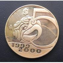 Medalla México Año 2000 Plata Baño De Oro