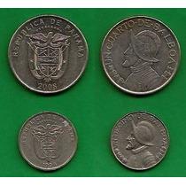 Grr-2 Monedas De Panamá 1/4 Y 1/10 De Balboa 1996 - 2008