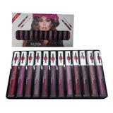 Lipstick Matte, Labiales, Huxia Beauty  Set 12 Pzas.
