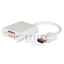 Efi-hdmitovga Convertidor Hdmi A Vga 15cm+audio 3.5mm Efitec