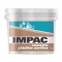 Cemento Plástico Acrílico Resanador Impac Tapa Grietas 1kg