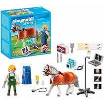 Playmobil 5533 Caballo Con Tecnico Granja Retromex
