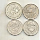 4 Monedas De Plata Diferentes Morelos