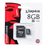 Memoria Micro Sd Hc 8gb Clase 4 Kingston Garantia Sellada Celulares Tablet Mayoreo Nueva Original
