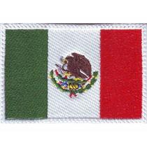 Mexico Blanco Con Velcro Parches Bordados Banderas Paises