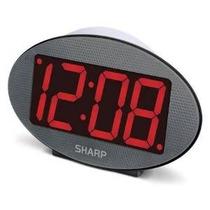 Jumbo Pantalla Del Reloj Sharp 3 Led Rojo Con Luz De Noche